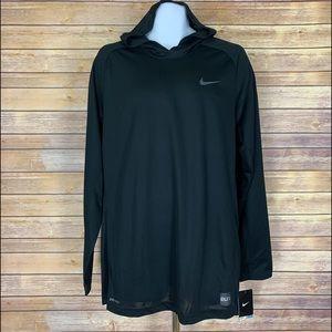 NWT Nike Mens Hooded Dri-Fit Long Sleeve Shirt